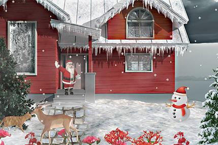 دانلود اسکرین سیور زیبای کریسمس برفی Snowy Christmas 3D screensaver